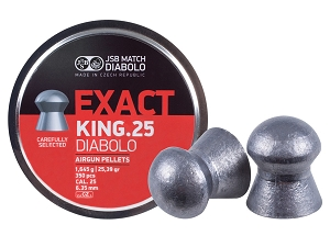 JSB Match Diabolo Exact King .25 Cal, 25.39 Grain Pellets